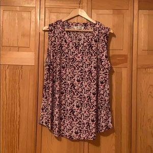 Multi-color Sleeveless blouse